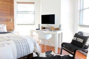 חדר שינה בסגנון ניורקי