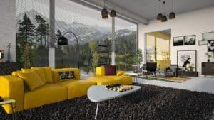 ספה צהובה